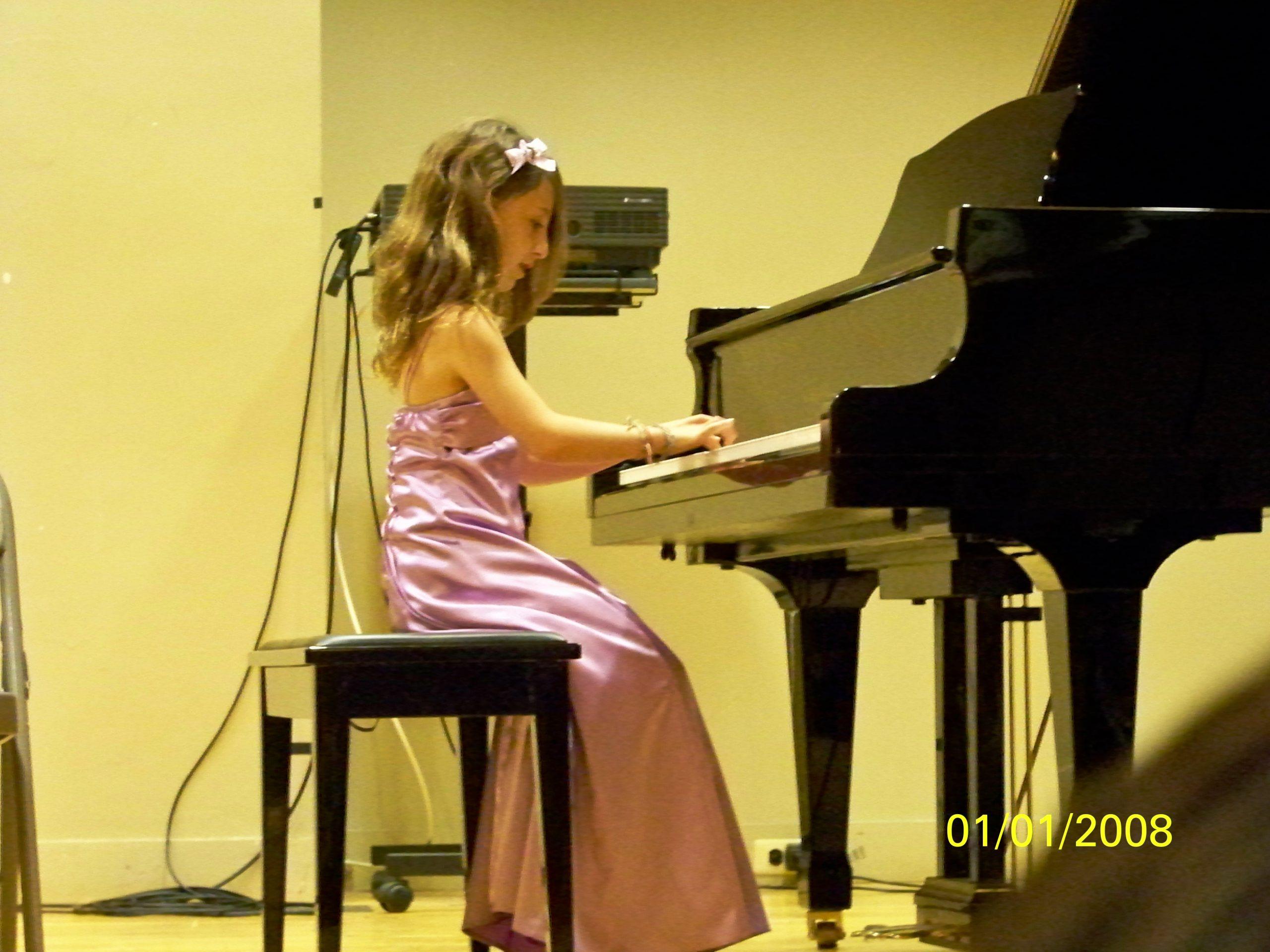 Little Alexa Playing Piano